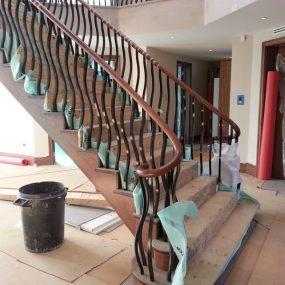 Bespoke black metal staircase balustrade