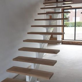 Centre spine stair case